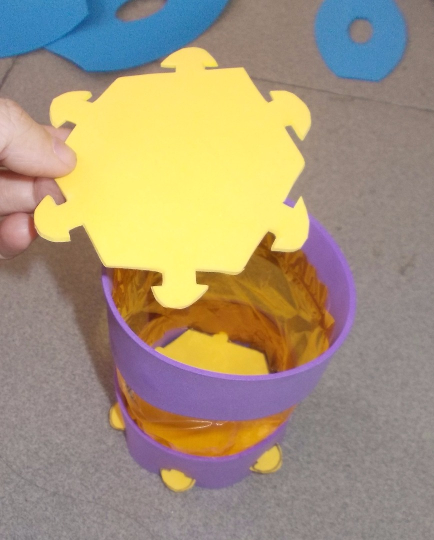 Picture of Cut the Second Hexagon for the Top of the Lantern.