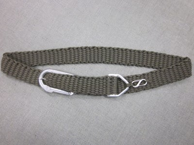 Paracord Belt With Carabiner Buckle
