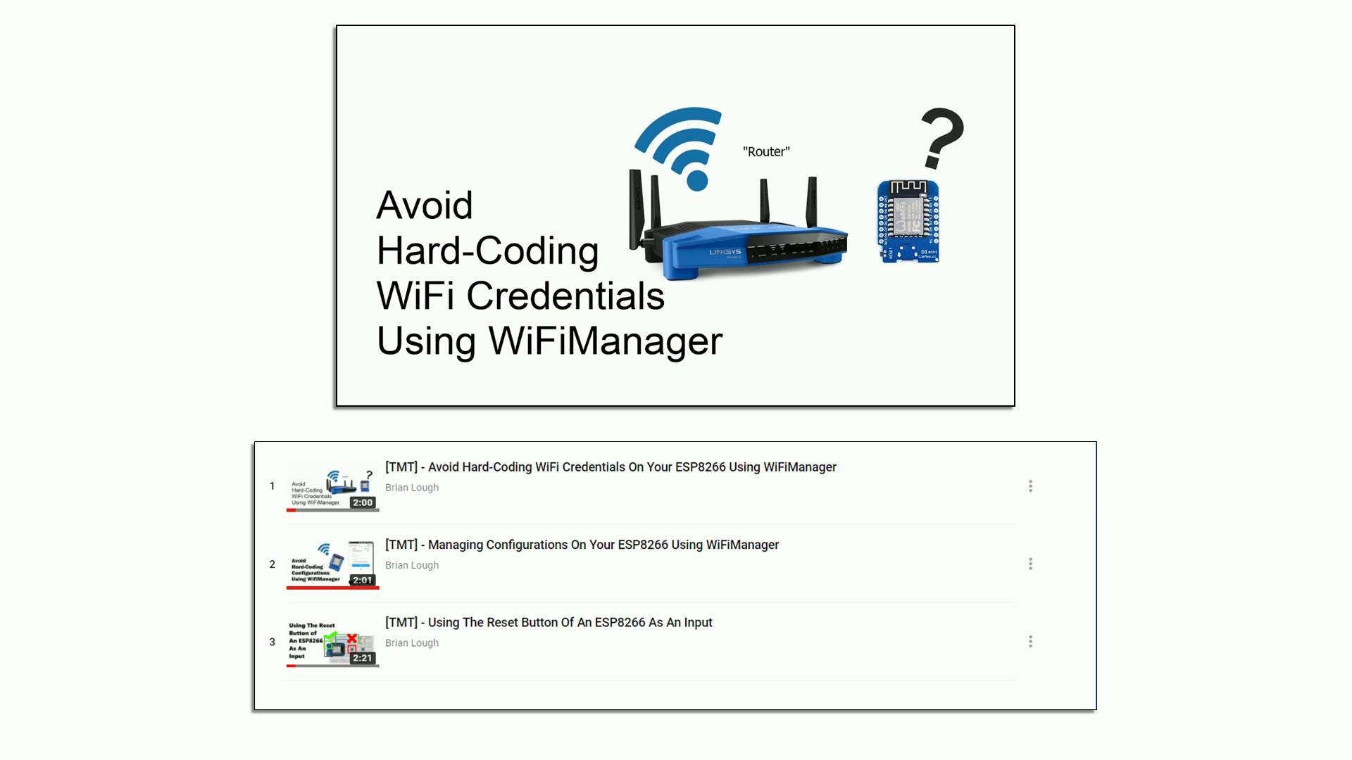 Picture of Configuring WiFiManager