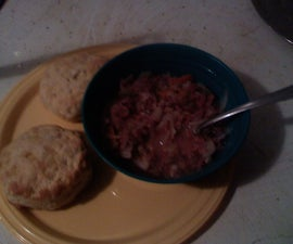 Easy 10-15 min. Cornbeef and Cabbage with biscuts