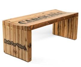 Pallet Wood Slat Bench