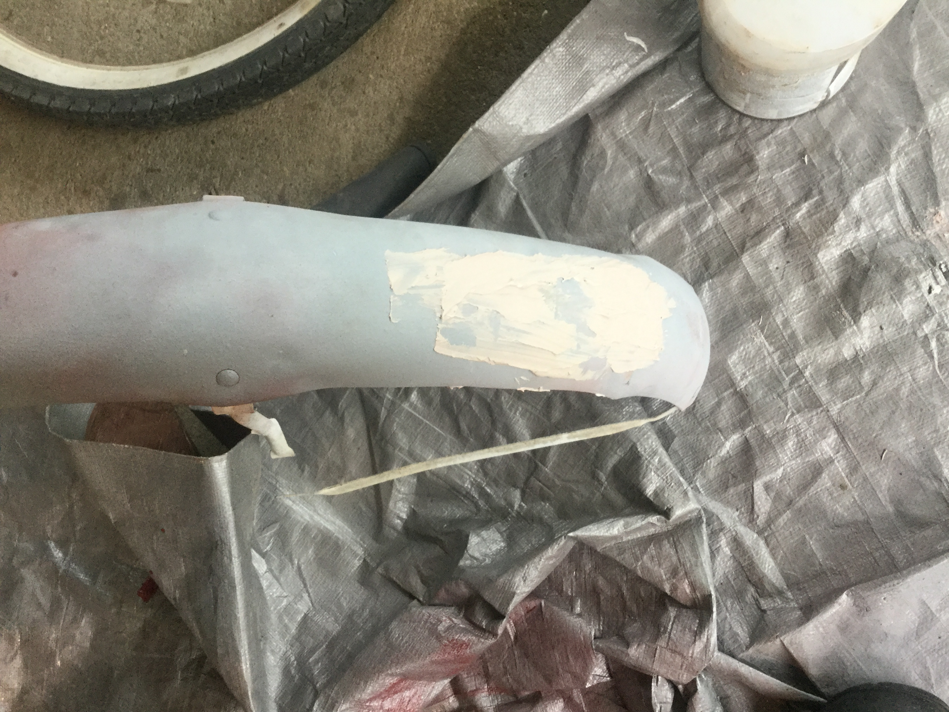 Picture of Getting the Dents Out and Filling With Bondo..