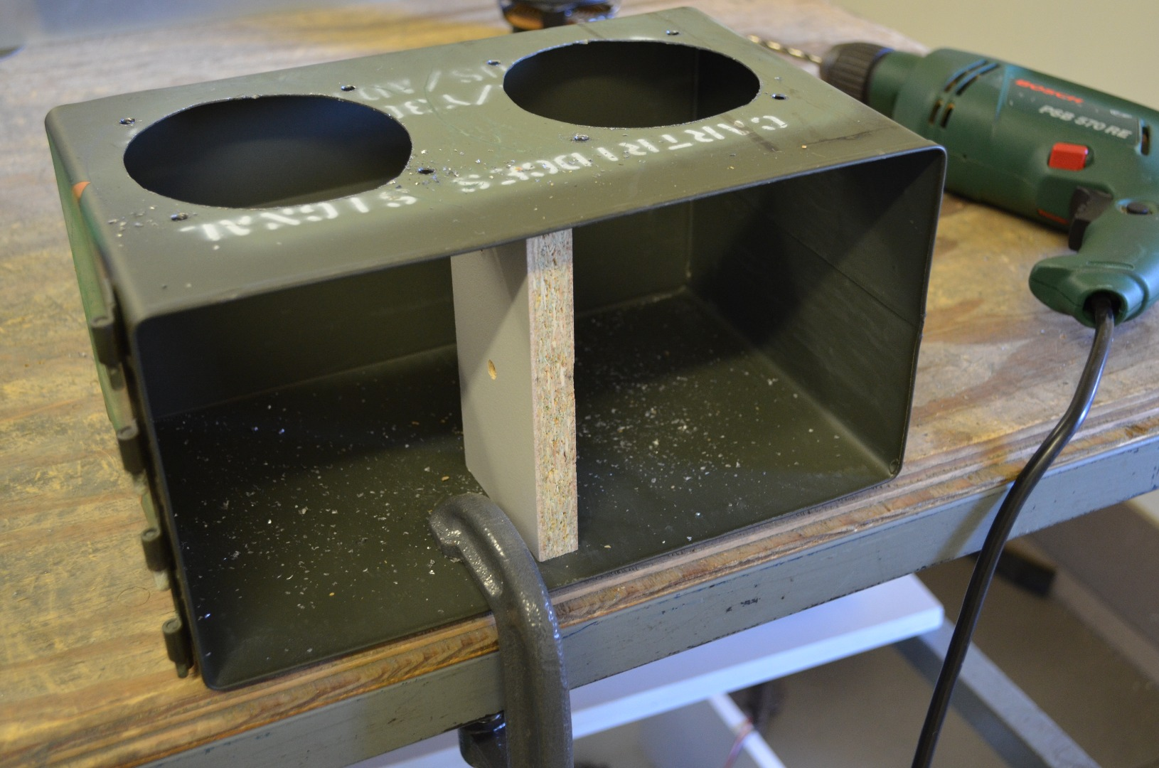 Picture of Cut Holes for Components and Speakers: