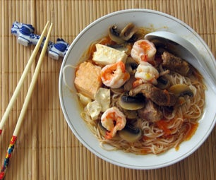 Asian-Style Tomato Soup With Rice Noodles
