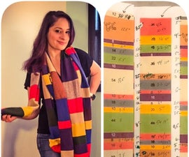 No Knit 4th Doctor Look-alike Scarf