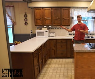 Out With the Old in With the New -- Kitchen Cabinet Refinish