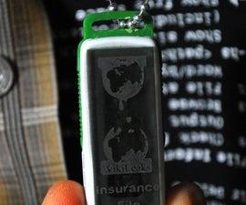 Wikileaks Insurance File Necklace