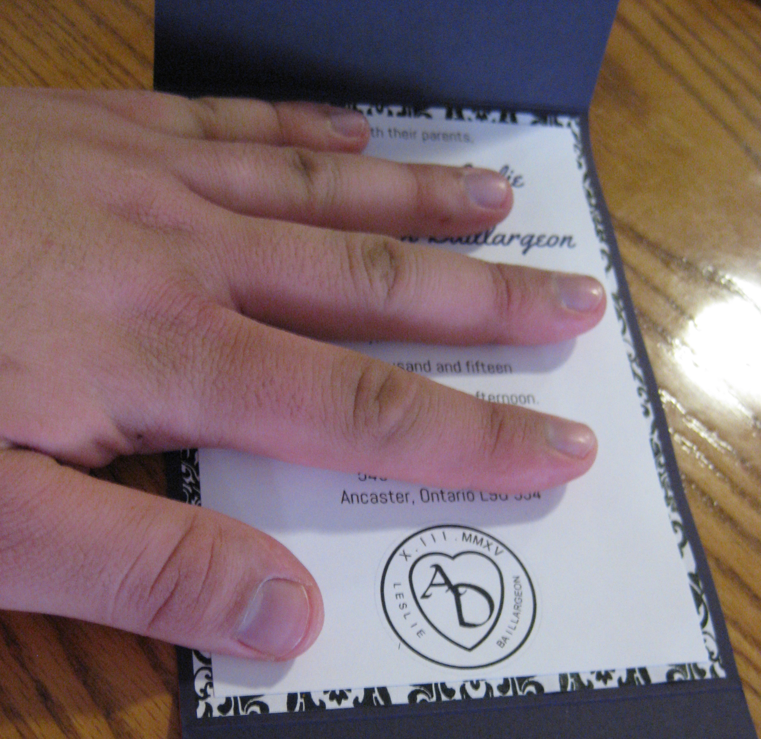 Picture of Assembling the Pocket Card