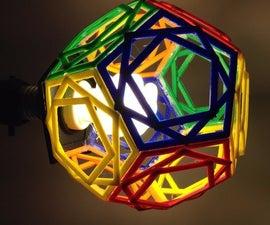 Geometric 3D Printed Lamp