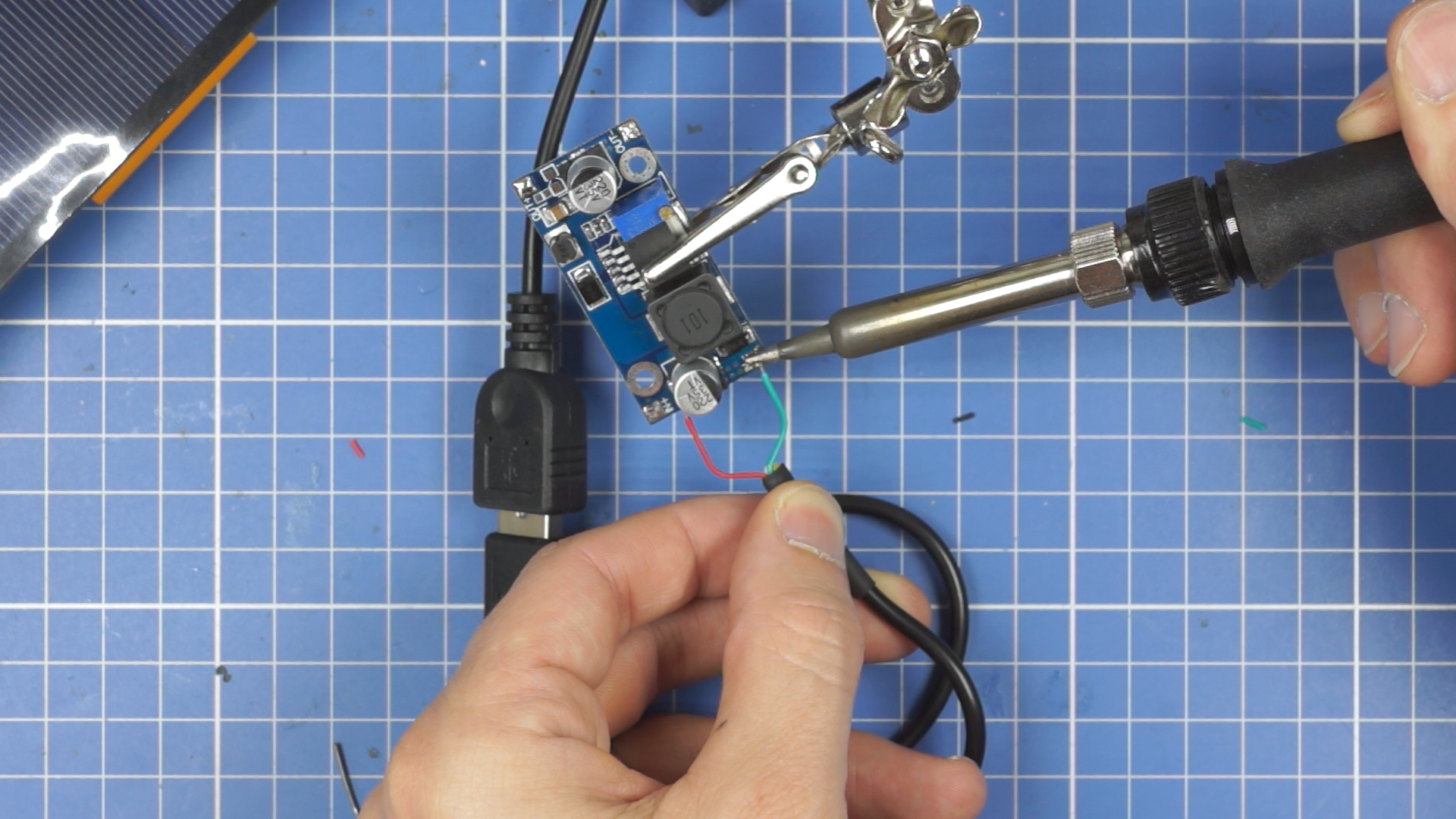 Picture of Solder the USB Cable to the New Circuit