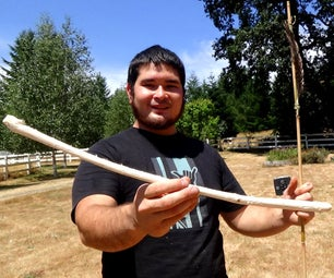 Make a Survival Atlatl and Dart With Only Found Materials and Stone Tools