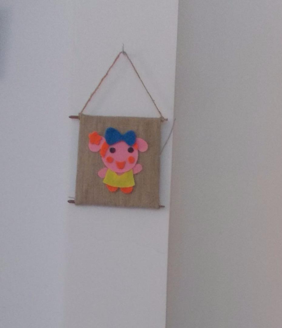Picture of Miss La Sen Small Burlap Fabric Curtain