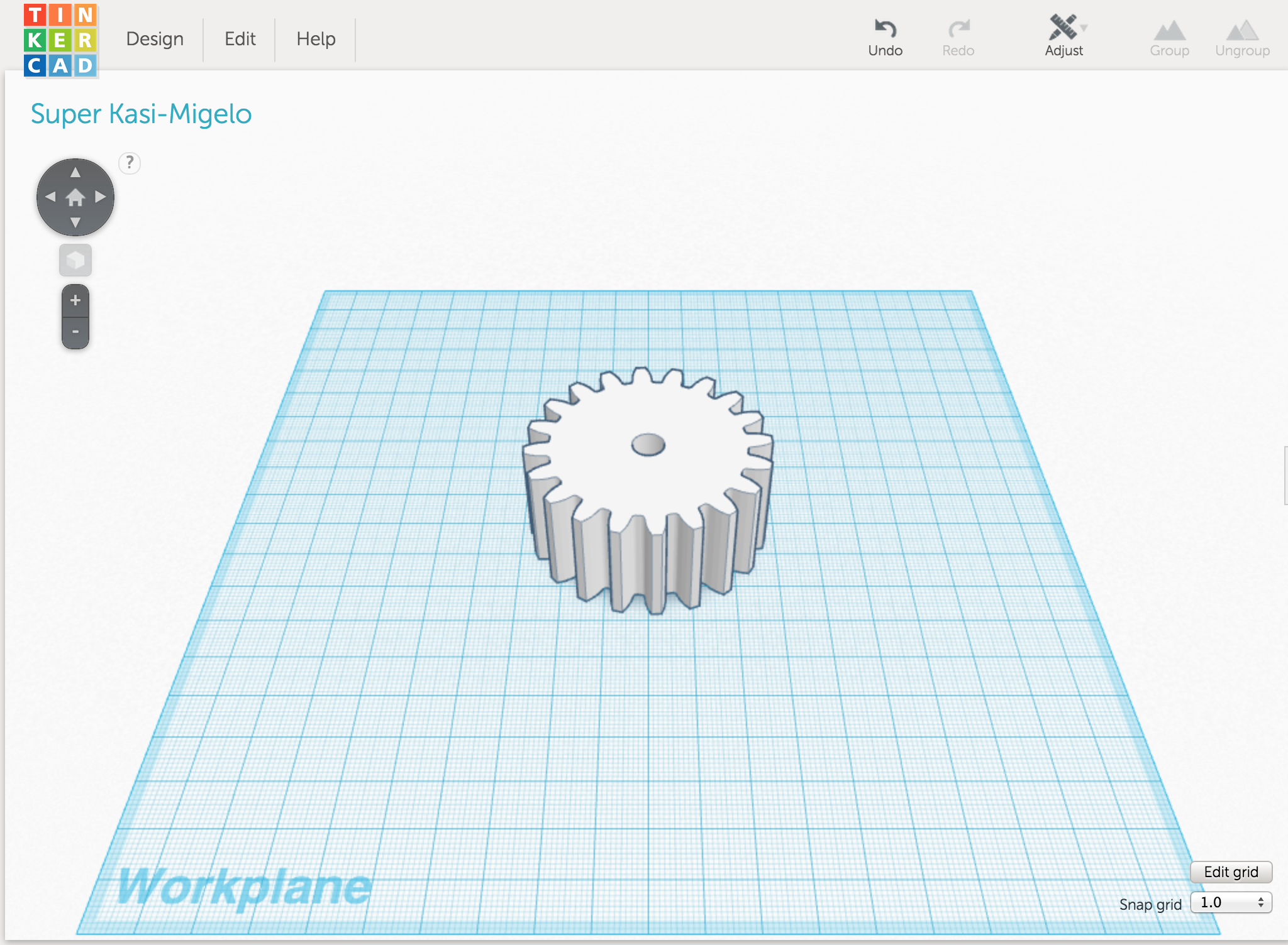 Picture of Gearing Up in TinkerCad