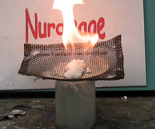 "Make ""Sterno"" Flaming Jelly from Antacid, Vinegar and Alcohol"