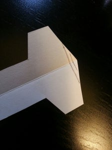 Make Layers on the Front Tip of Your Plane That You Will Later Fold.