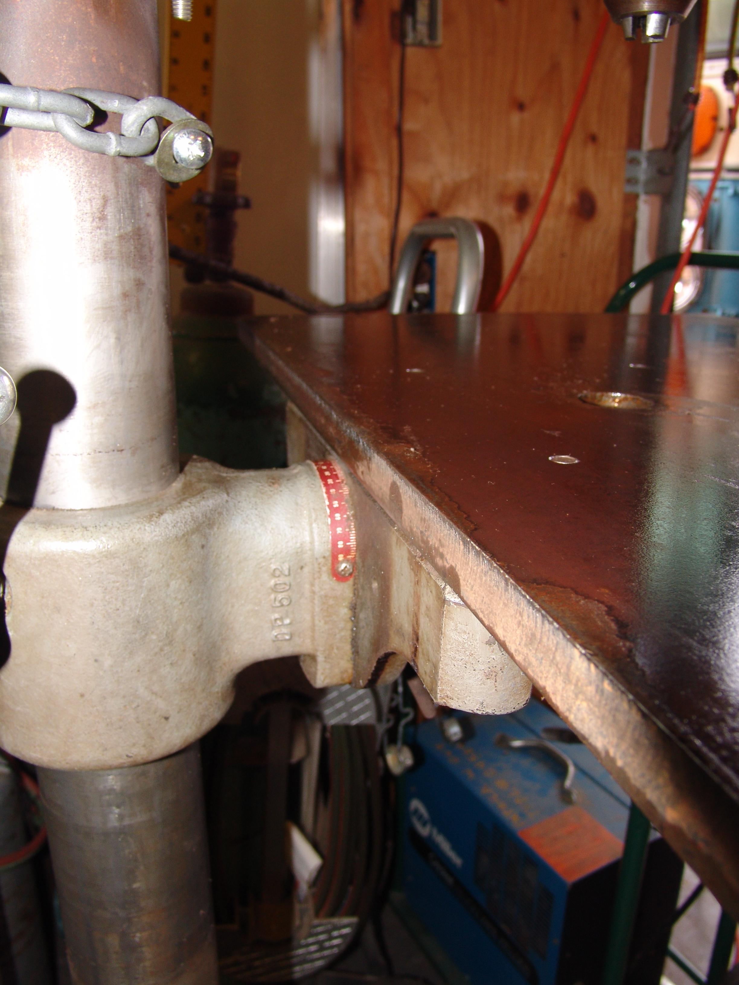 Picture of Determine New Drill Press Table Dimensions