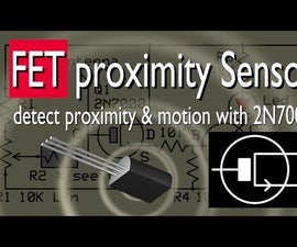 Proximity Sensor with 2N7000 mosfet