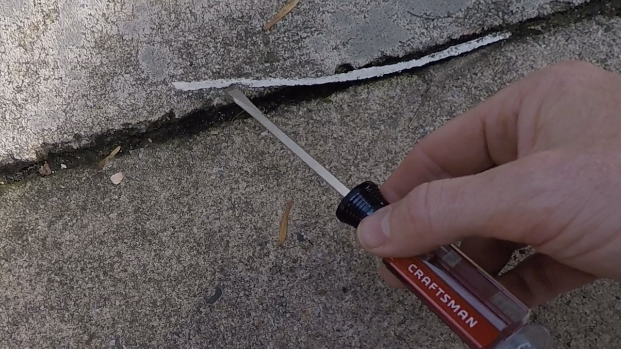 Picture of Concrete Repair With Hot Glue