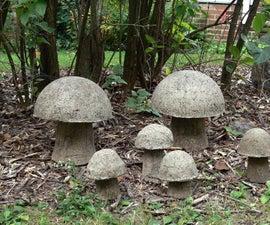 Hypertufa Mushrooms or Tufarooms