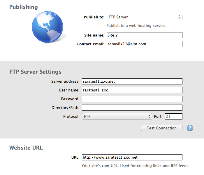 Picture of Publish Site to FTP Domain