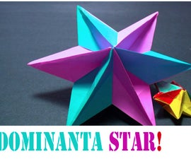 How to make an Origami 3D Dominanta Star (Modular 6 Unit)!