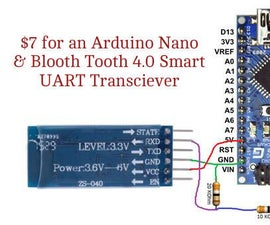 Simplest Bluetooth 4.0 BLE & Arduino for $7