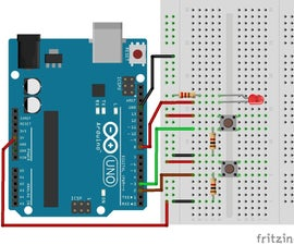 Start-Stop button switch with Arduino