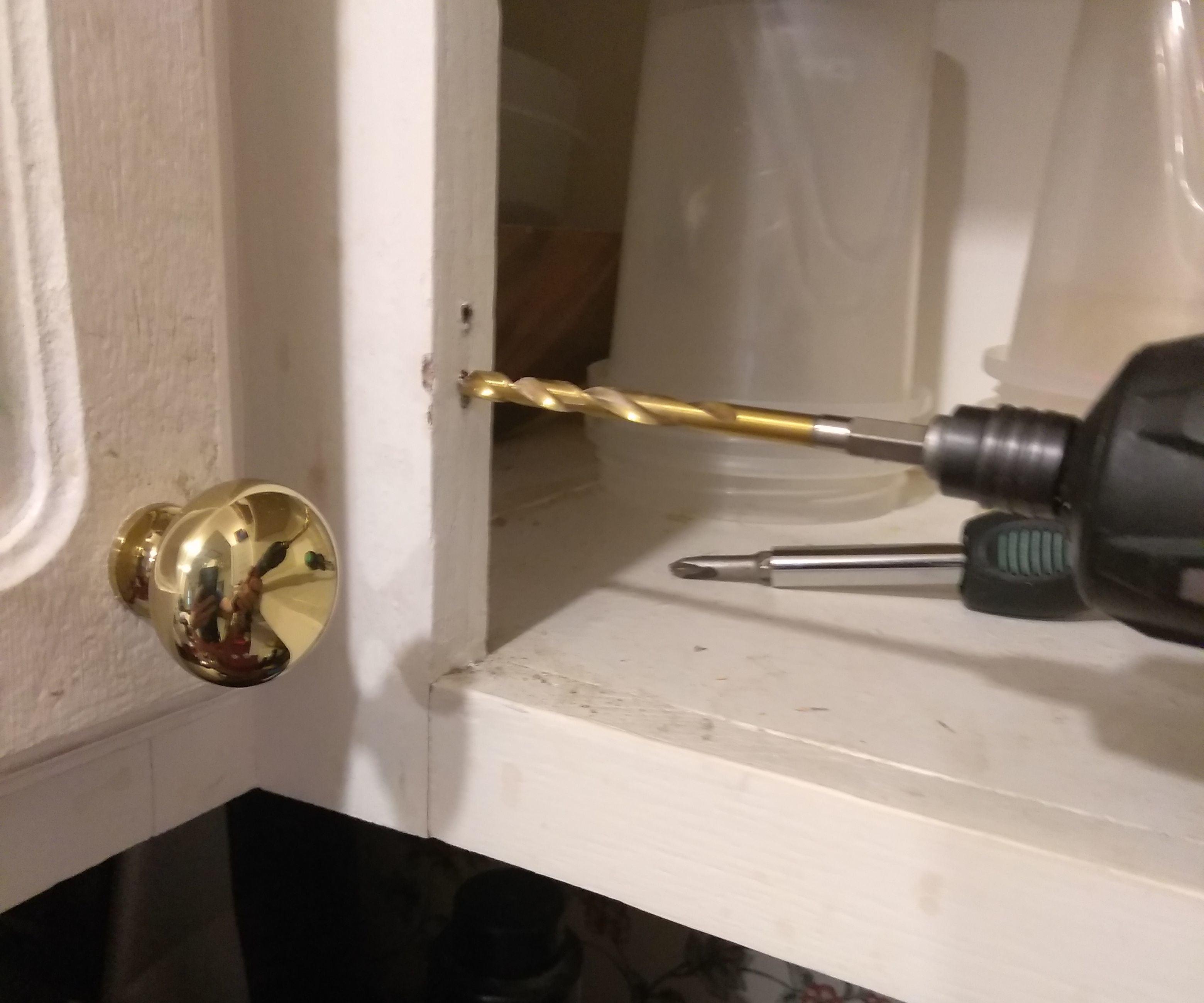Repairing Stripped Cabinet Hinges