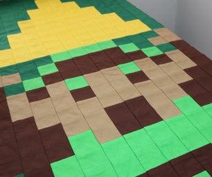 Easy Pixel Quilt Top