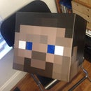 Minecraft Steve Stable Head Build