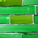 Convex Glass Tile from Bottles