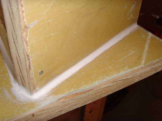 Picture of Glue in Camera Shelf, Seal Up the Seams.