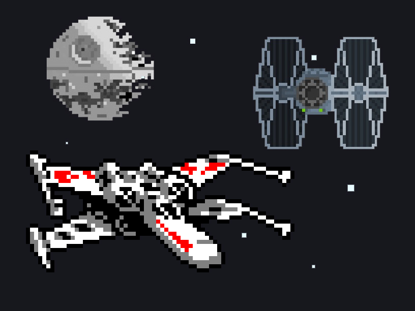 Picture of Star Wars Themed Retro Arcade Game