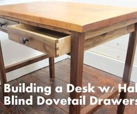 Building a Walnut Desk w/ a Mahogany Top