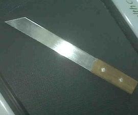 Carbon Steel Shirasaya Straight Tanto-ish Machete With Hardwood Handle