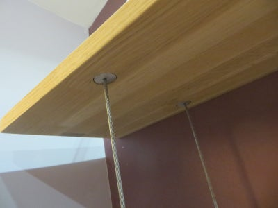 Suspended Shelves With Invisible Stops