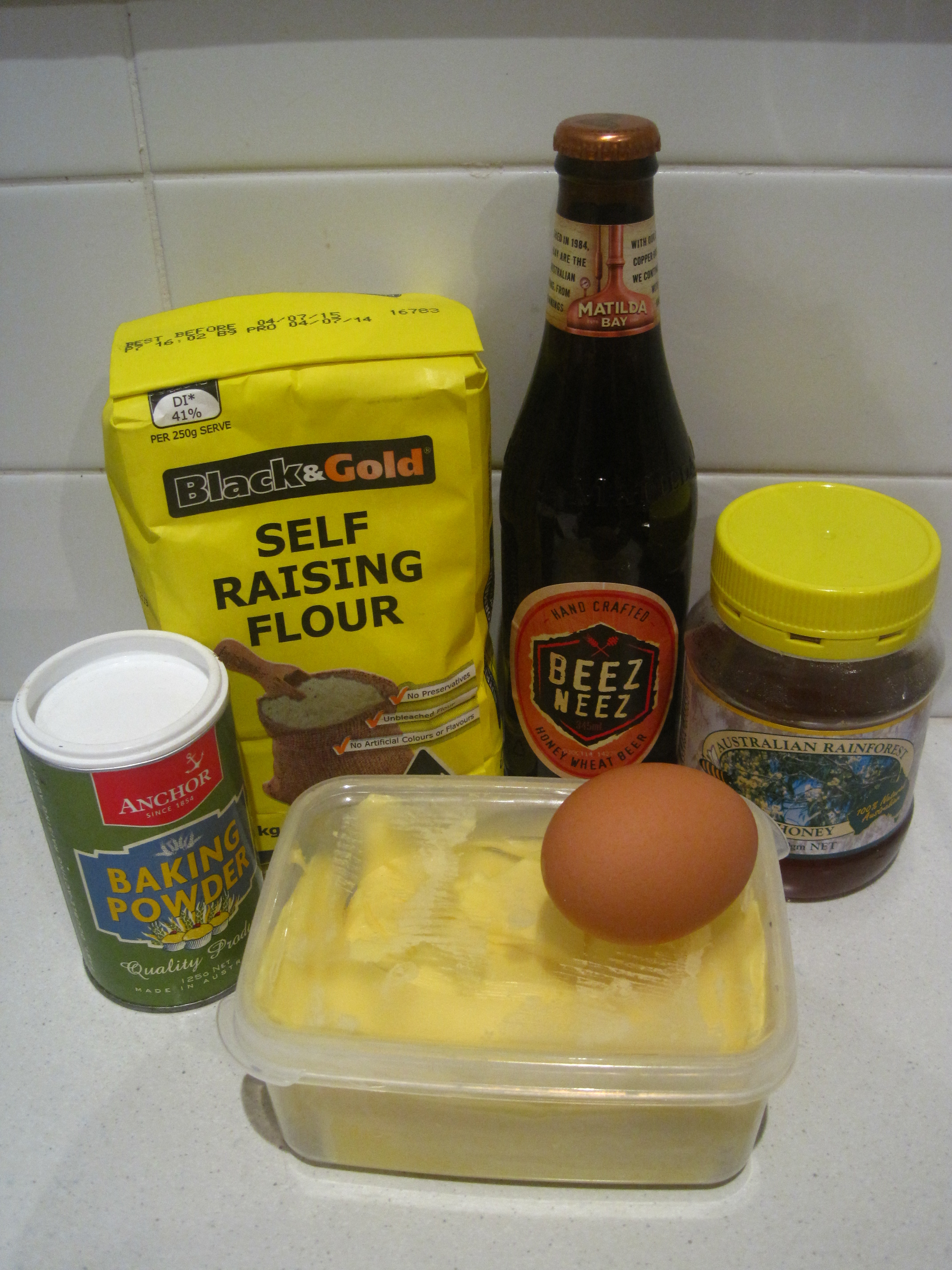 Picture of Ingredients & Pre-Heating the Oven