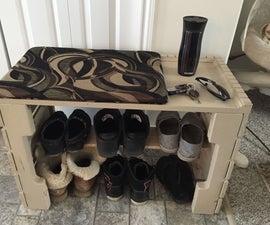 Pallet Bench/Shoe Shelf