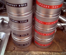 Stackable organizing tins