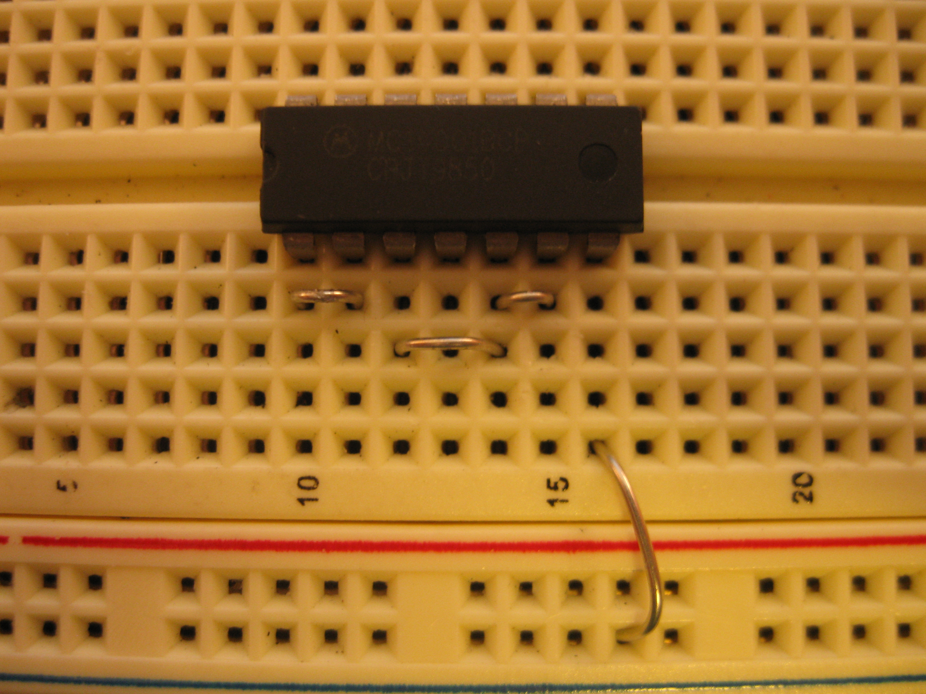 Picture of Insert the IC and Jumpers