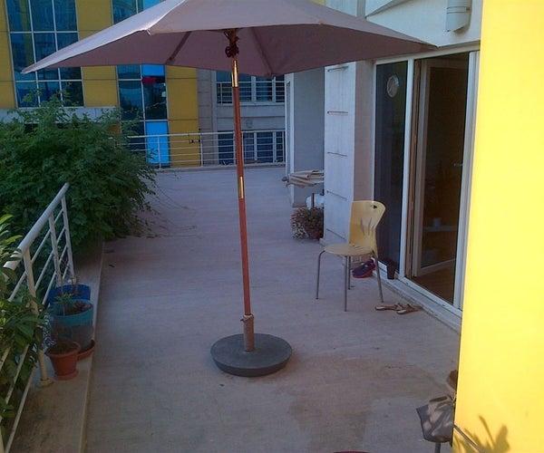 DIY Umbrella Stand (reinforced Concrete Base)