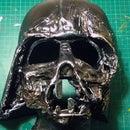 Homemade Darth Vader Melted Mask