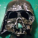 Homemade Darth Vader Melted Mask