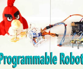 Arduino - Programmable Robotic Arm (Record and Repeat of the Servo Positions)