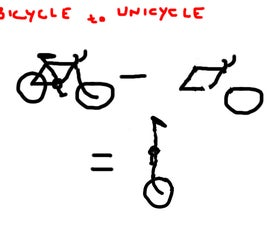 Bicycle to Unicycle in three thousand easy steps ( in a day).