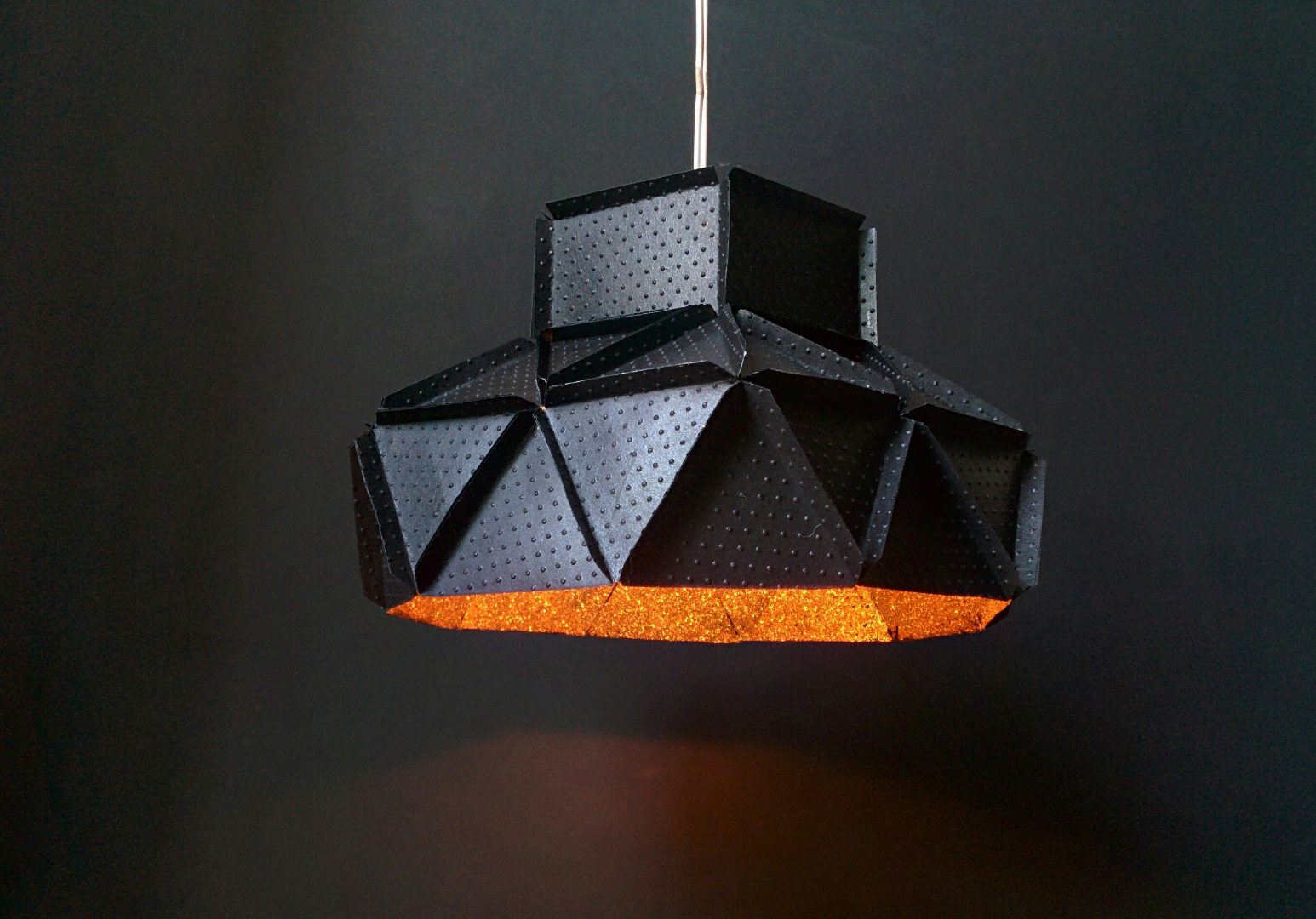 Picture of How to Create a Glittery Metal Lamp Using Paper