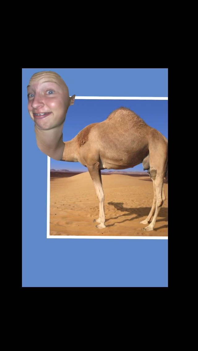 Picture of Put the Head That May or May Not Be Yours on the Camel