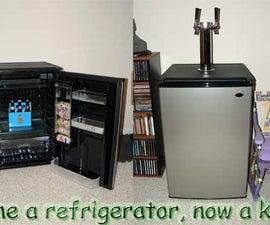 How to build a kegerator kit or homebrew kegerator from a Sanyo Mini-fridge