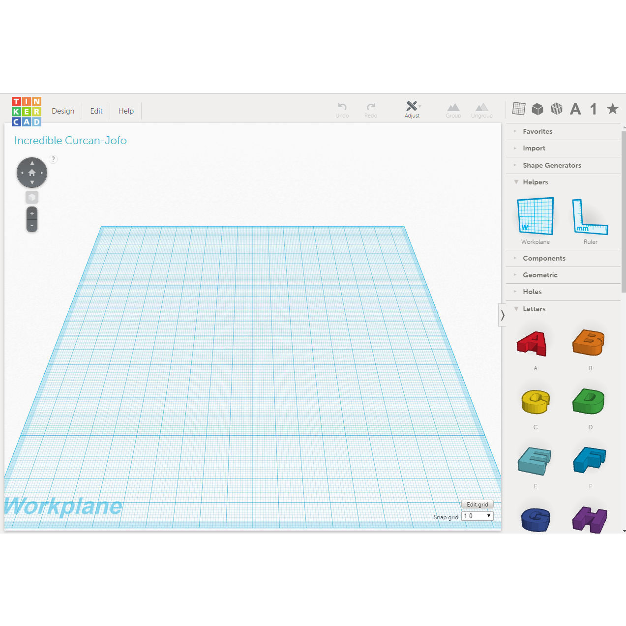 Picture of Create a New Design in Tinkercad