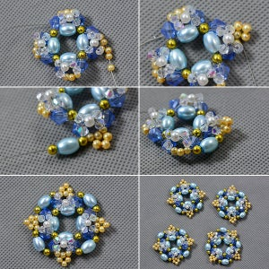 Add Yellow Pearl Beads Blue Rice Pearl Beads
